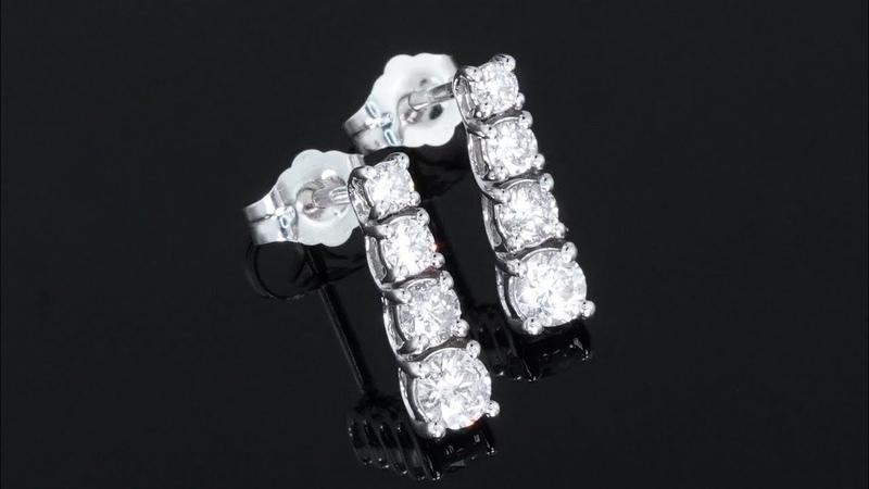 GIA CERTIFIED White Diamond Cocktail Drop Earrings 14k Gold 0 75 tcw Natural Diamonds Vintage Estate