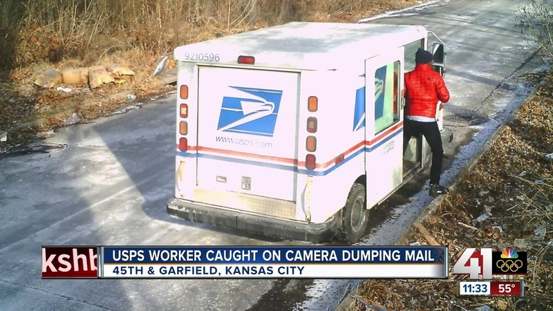 USPS worker caught dumping mail in KC city says