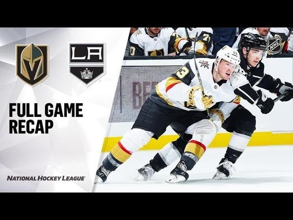 Vegas Golden Knights vs Los Angeles Kings – Sep.19, 2019   Preseason   Game Highlights   Обзор матча