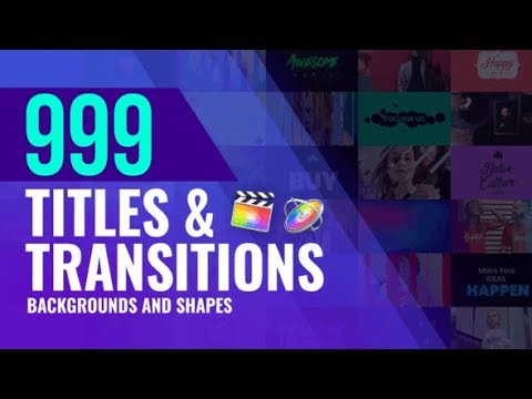 Titles and Transitions for Final Cut Pro videohive