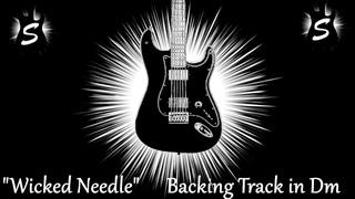 Wicked Needle   Guitar Backing Track in D Minor   Dark Hard Rock Ballad Jam Tracks SJT257