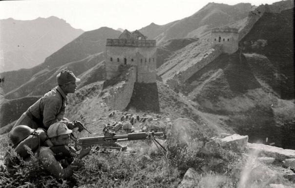 Китайцы на обороне Великой китайской стены. Лайюань, Хэбэй, 1938 год б