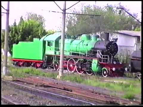Музейный паровоз Су250 64 манёвры по ст Батайск 2006 год