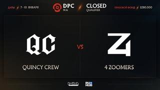 Quincy Crew vs 4 Zoomers, Dota Pro Circuit 2021: Season 1 - NA, bo3, game 2 [Eiritel & Inmate]