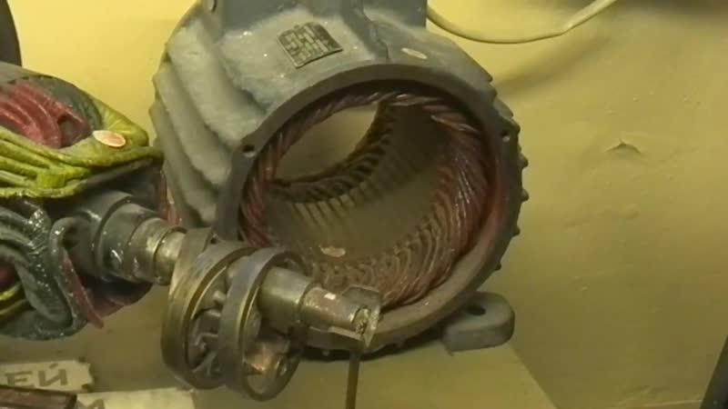 Опыт со стальным шариком в магнитном поле статора асинхронного двигателя