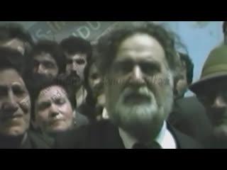 Халил Рза Улутюрк читает стих «Ermənisiz Azərbaycan», 1991 год