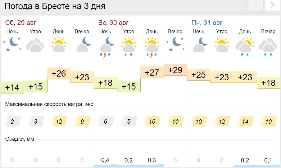 Жара до +32°С ожидается на юге Беларуси 30 августа