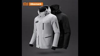 Мужская водонепроницаемая куртка xiaomi, легкая спортивная ветровка с капюшоном и защитой от дождя