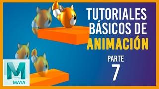 Tutorial básico de animación en Maya ::: Pelota con cola / Tail ball animation obstacles