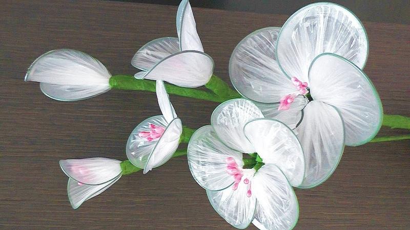 Как сделать Цветы из мусорных пакетов Recycled Plastic Flowers   Easy Plastic Bag Crafts DIY