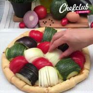 id_17751 Открытый пирог с овощами 🍽  Автор: Chefclub Italia   #gif@bon