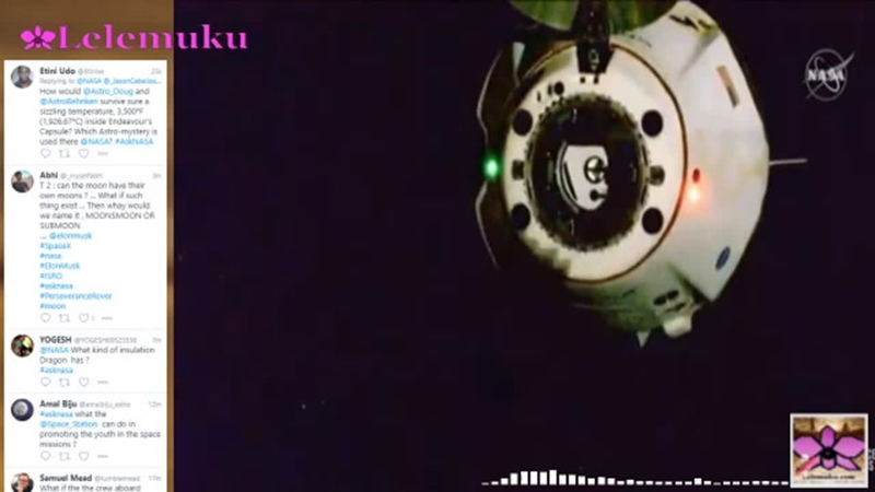 2 Astronot NASA dari Stasiun Angkasa ISS Kembali ke Bumi Dengan Roket SpaceX | sekilasinfo