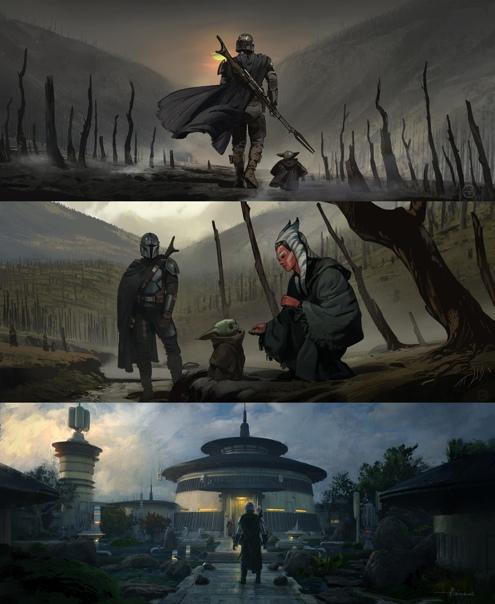 Концепт-арты 13-го эпизода «Мандалорца» Новая серия выйдет в пятницу.