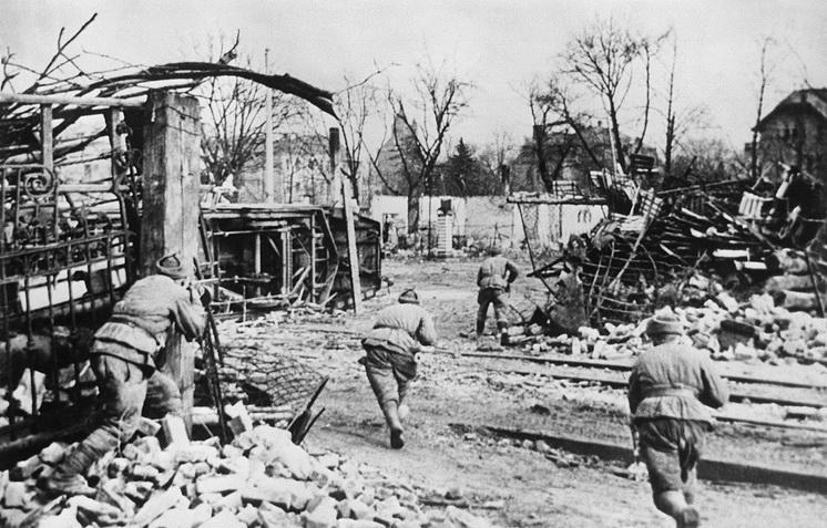 22 января 1945 года советские войска вели бои на территории немецкой Силезии