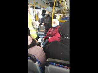 18+ (ВНИМАНИЕ, МАТ!) Ситуация в автобусе про маски и коронавирус