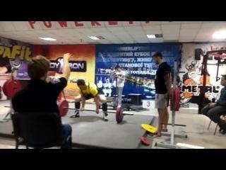 Удовенко Николай тяга 222.5 кг (весовая до 90)