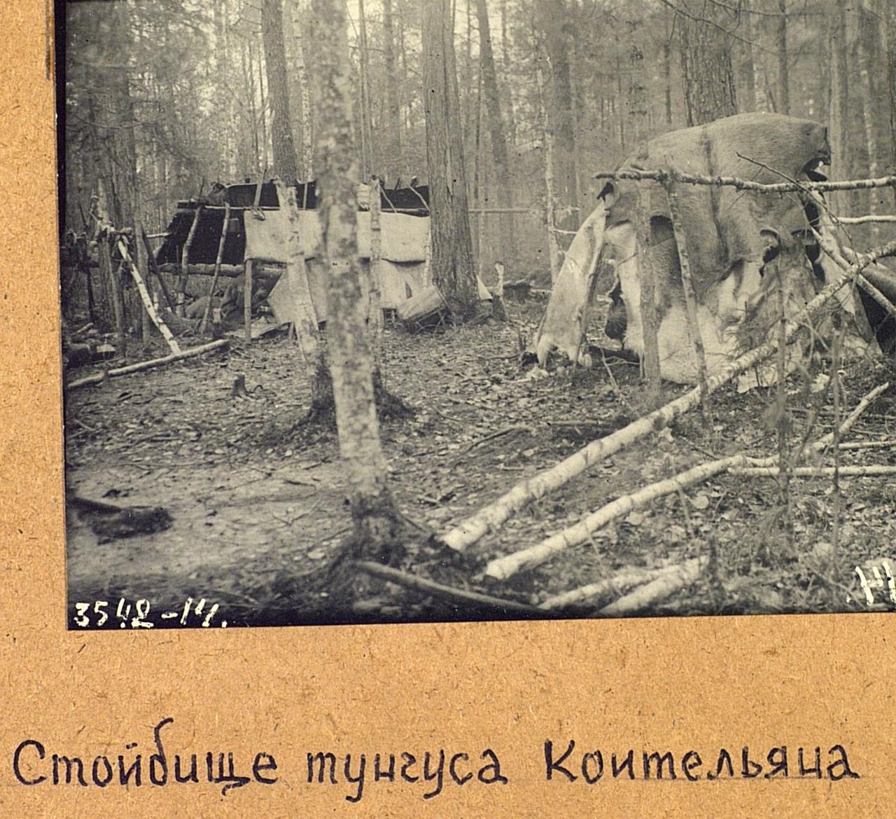 Стойбище охотника Коительяна. Эвенки (тунгусы). Омская область, Тарский район. 1926. № 3542-14.