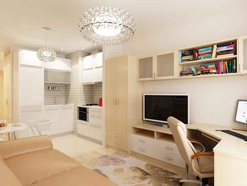 Проект квартиры-студии почти 24 м.