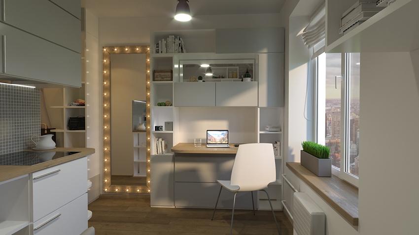 Проект мини-студии 11,6 м от московского застройщика MySpace Development.