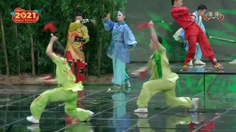 Wushu Performance with Donnie Yen Wu Jing 2021 Spring Festival Gala 720P HD