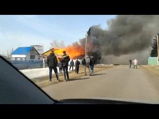 пожар в деревне Любино-Малоросы
