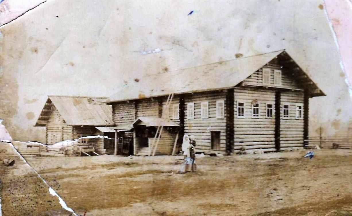 Фото 1913 года, деревня Великое Поле (Тавреньга,