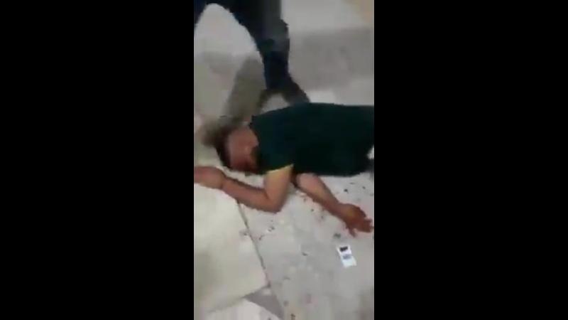 Раненый палестинец в деревне Себастия