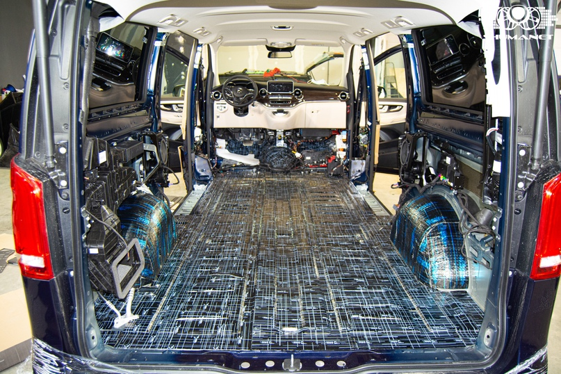 Комплексная шумоизоляция Mercedes-Benz V-Class, изображение №18