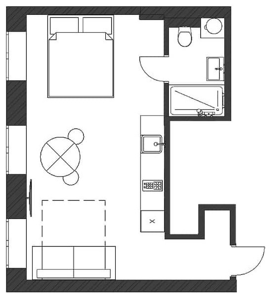 Квартира-студия 30 кв.