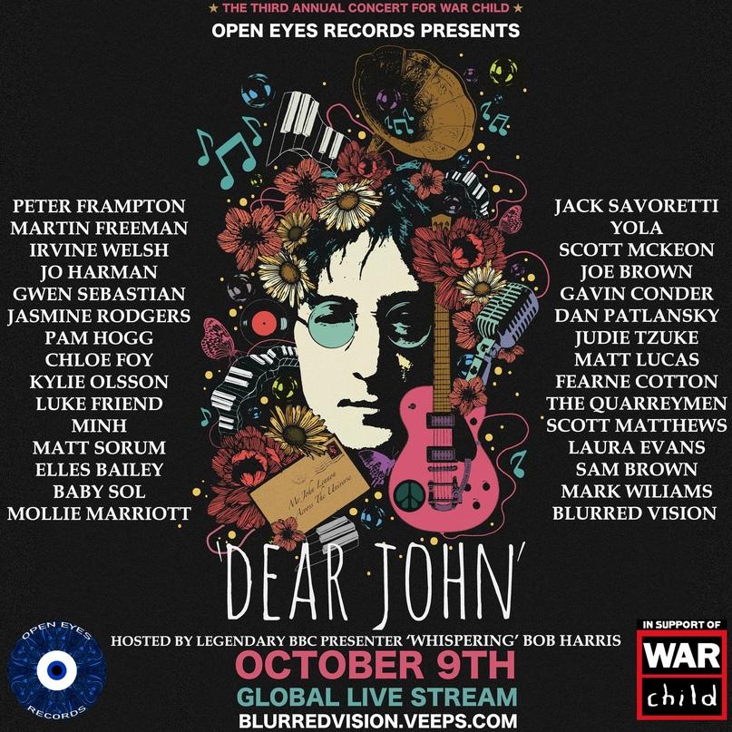 Онлайн-концерт «Dear John», посвященный дню рождения Джона Леннона, состоится 9...