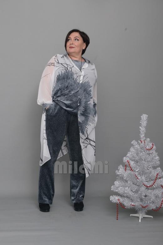 Мода ПЛЮС: 24 стильных образа для полных дам элегантного возраста - 10