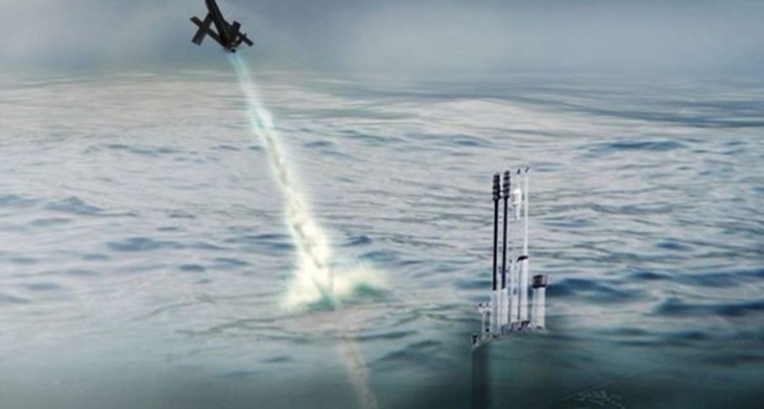 Дрон с подводной лодки