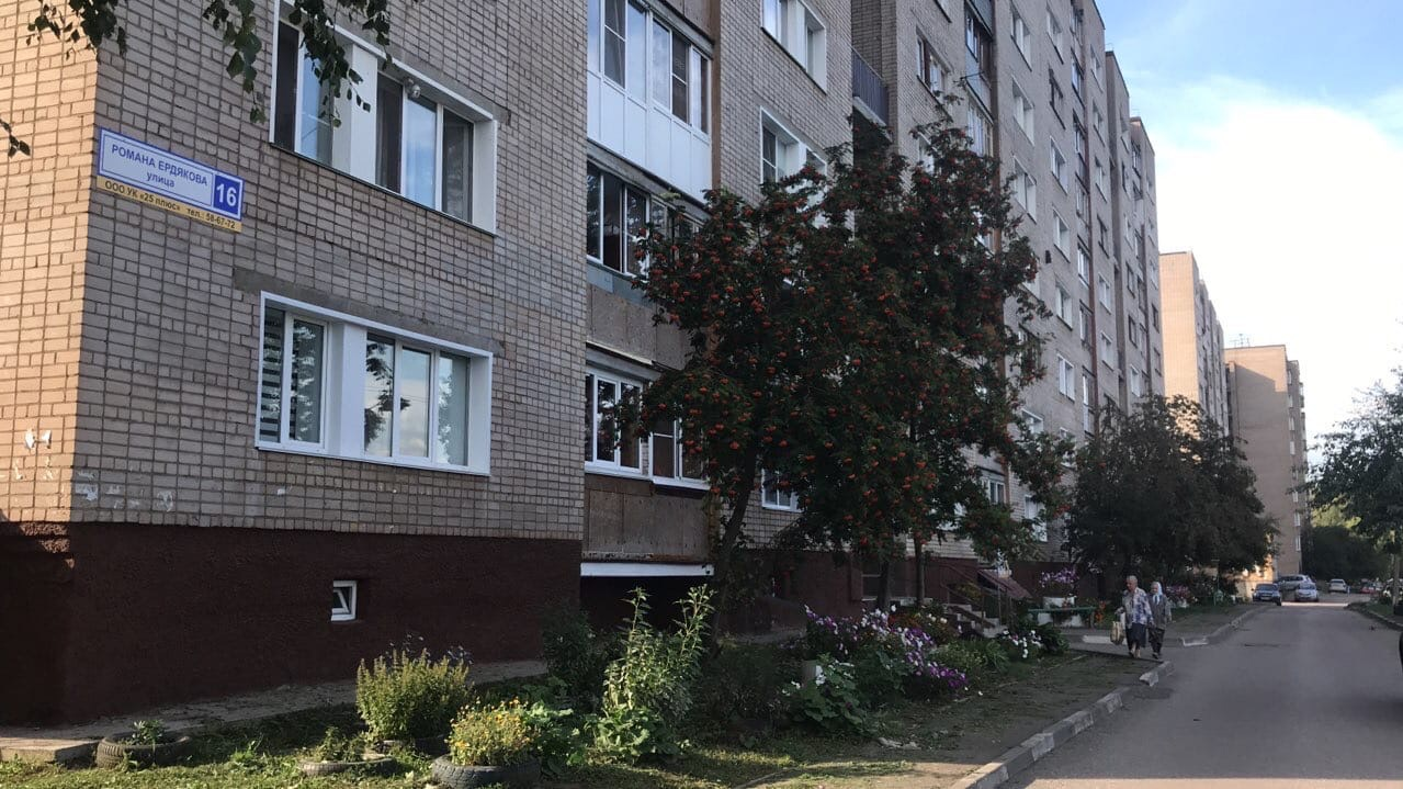 Улица Ердякова дом 16 кошение травы