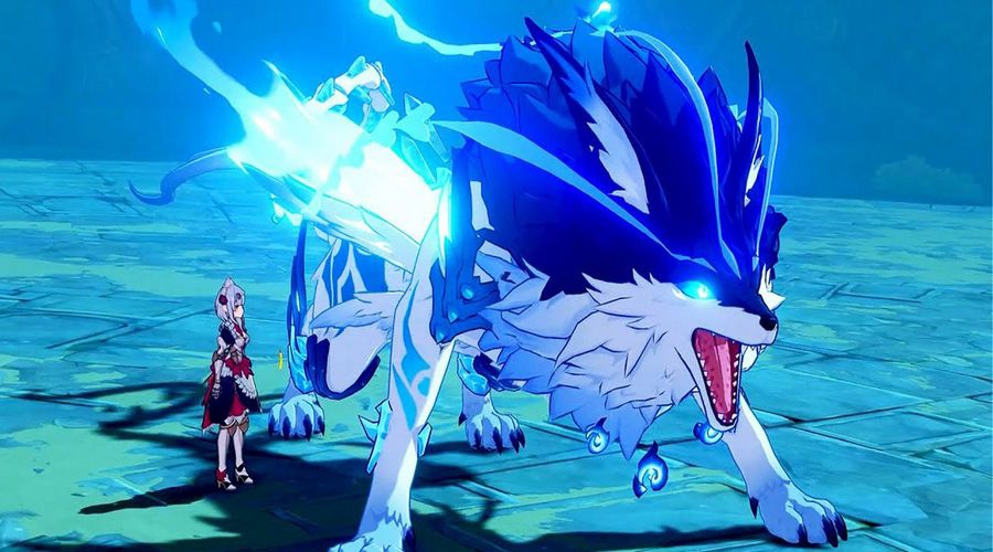 Genshin Impact синий волк