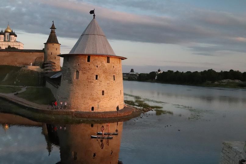 Псков. Слияние двух рек Псковы и Великой