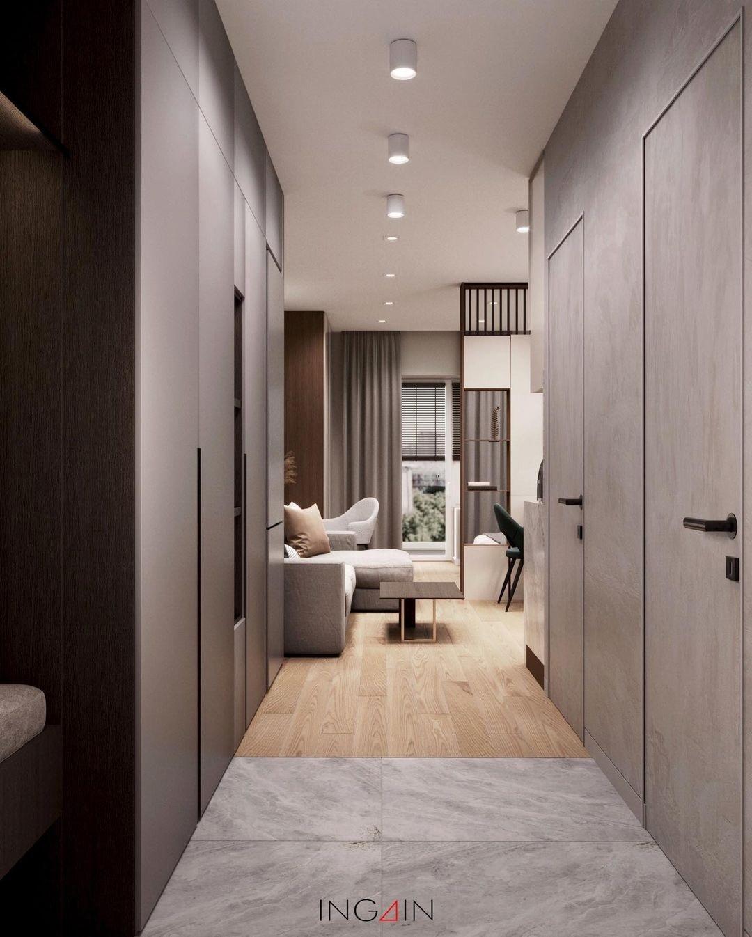Проект квартиры-студии 32 кв.