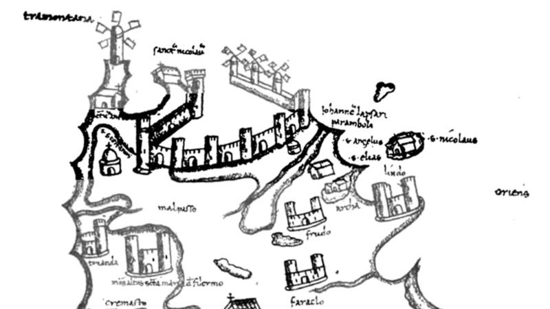 Малпассо на карте Буондельмонти, опубликованной в XIX веке