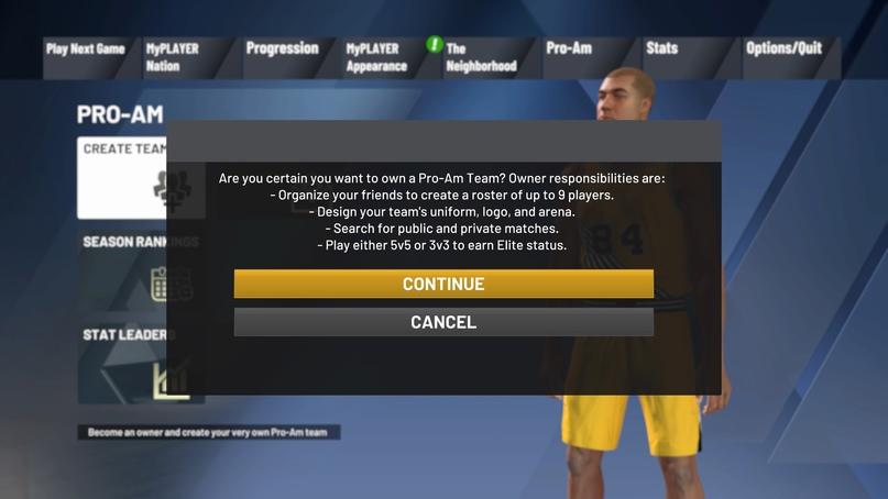Как создать команду Pro-Am в NBA 2K21, изображение №3
