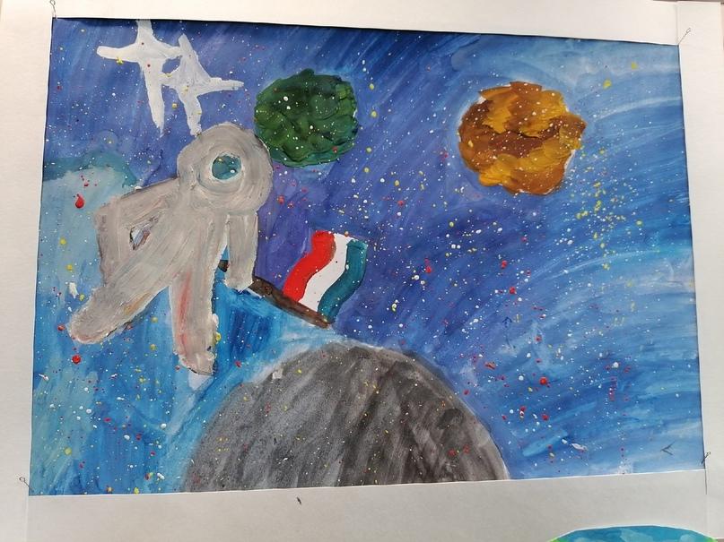 Выставка рисунков, посвящённая 60 -летию полёта в космос Юрия Гагарина, изображение №7
