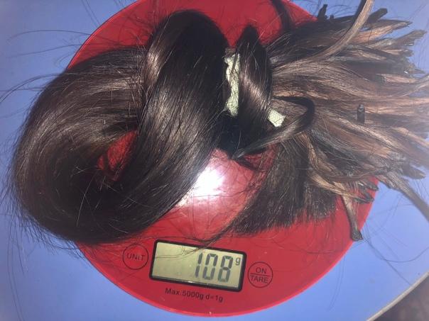 Продам волос славянка,темно русый прямые 55см ,исп...