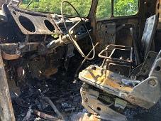 В Липецком районе сгорел «ЗИЛ»