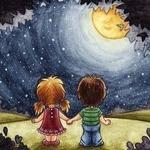 Луна бежит по крыше… — детские стихи про Луну
