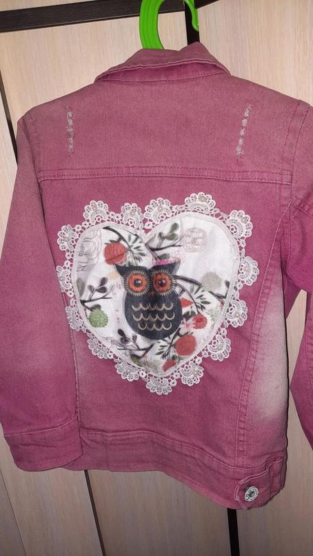 Джинсовка на девочку с принтами, с 3D | Объявления Орска и Новотроицка №27980