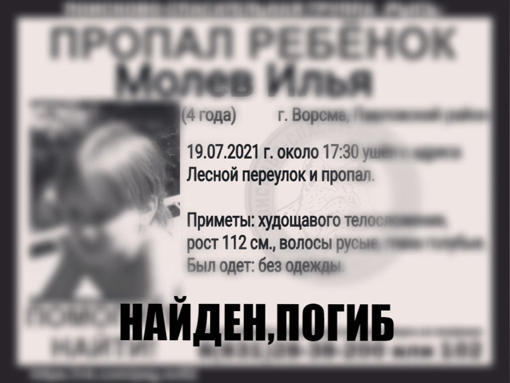 Молев Илья, 4 года. Ворсма, Павловский район