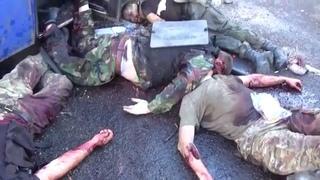 Ополченцы расстреляли автобус с Правым сектором на блок-посту Гамалия 12 08 14
