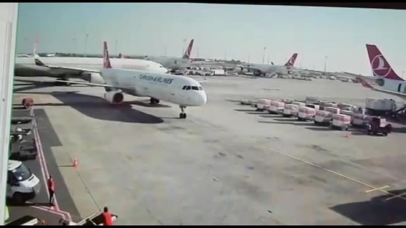 Самолет Аirbus A330 снес хвост другого самолета
