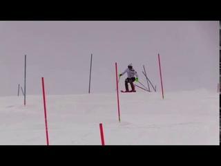 WORLD CUP SKI RACERS SLALOM TRAINING 11