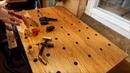 Самодельный столярный верстак. Восстановление перфорации столешницы.