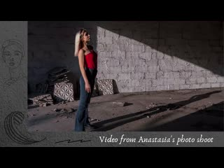 Video from Anastasias photo shoot