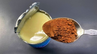 Gezuckerte kondensmilch und Kakao umrühren, Sie werden vom Ergebnis begeistert sein! Trüffelrezept